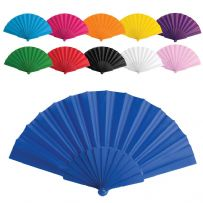 10 Pack - Handheld Fans Plastic & Fabric